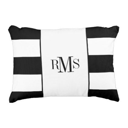 Chic Accent Pillowmocern Black White Stripes Decorative Pillow Custom Black And White Striped Decorative Pillows