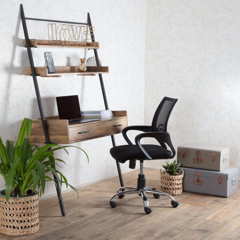 Harton Leaning Ladder Desk Reviews Allmodern In 2020 Ladder Desk Leaning Ladder Desk Leaning Desk