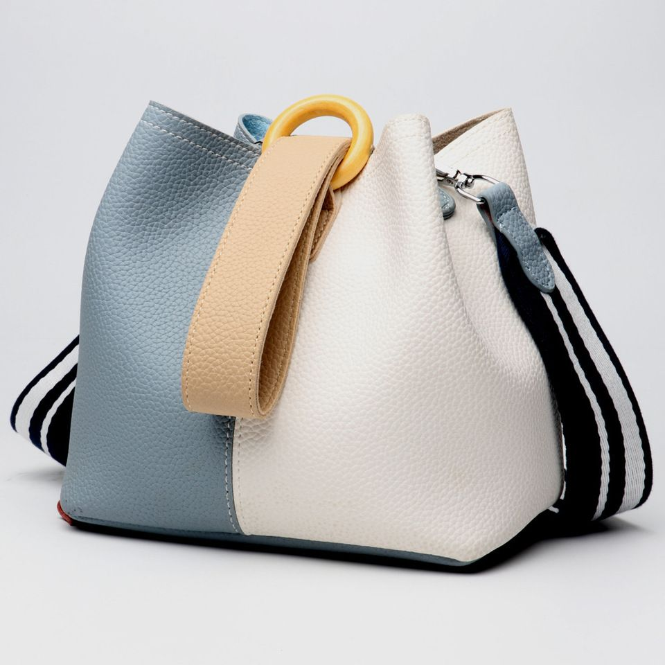 f3b07a7578 2018 hot sale fashion Europe Multicolor cowhide leather tote bag shopping  handbag set for women