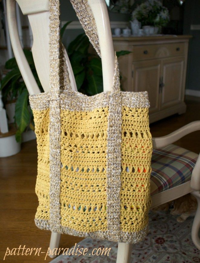Free Crochet Pattern For X St Market Bag By Pattern Paradise