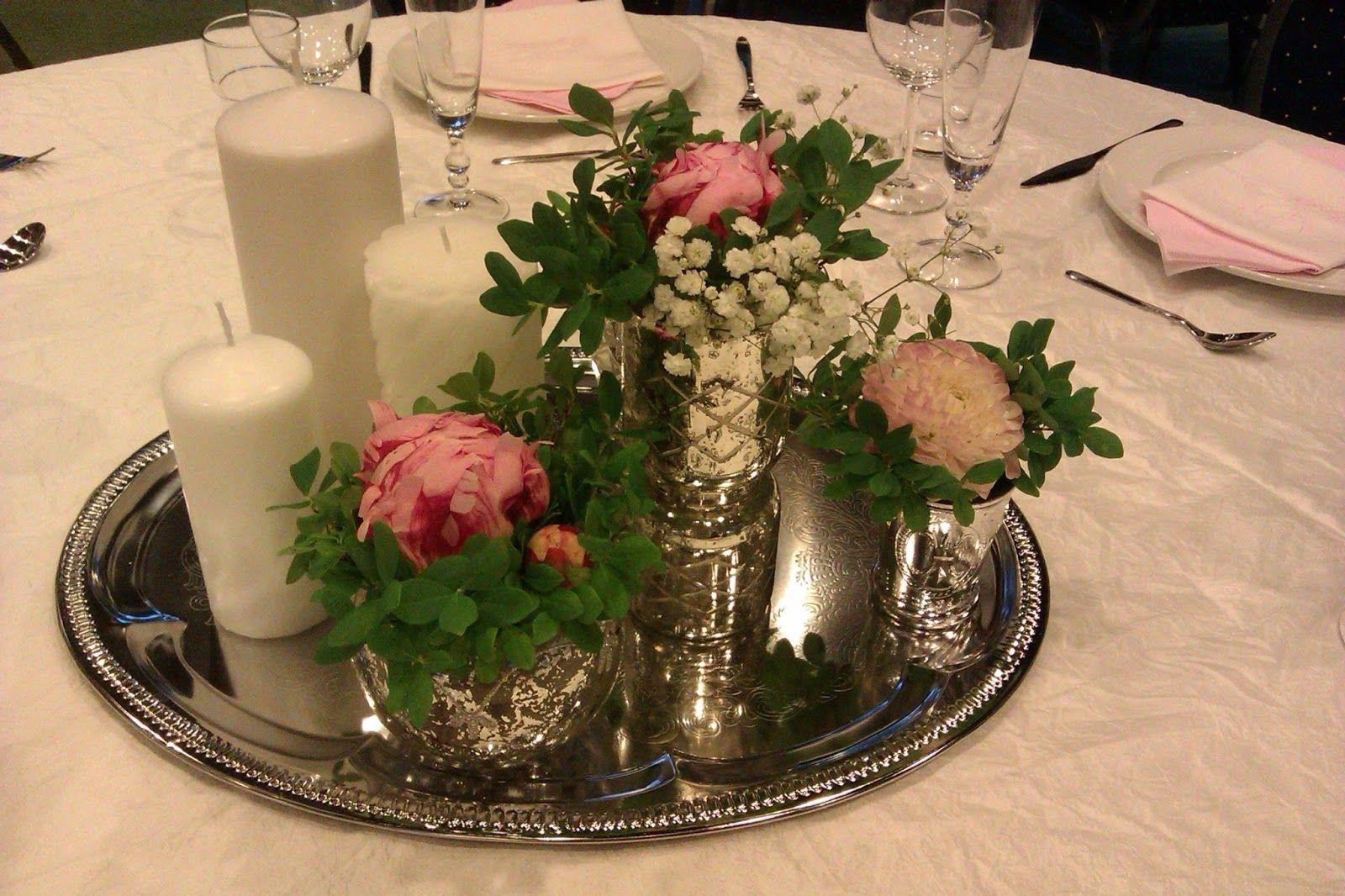 bordpynt bryllup runde bord