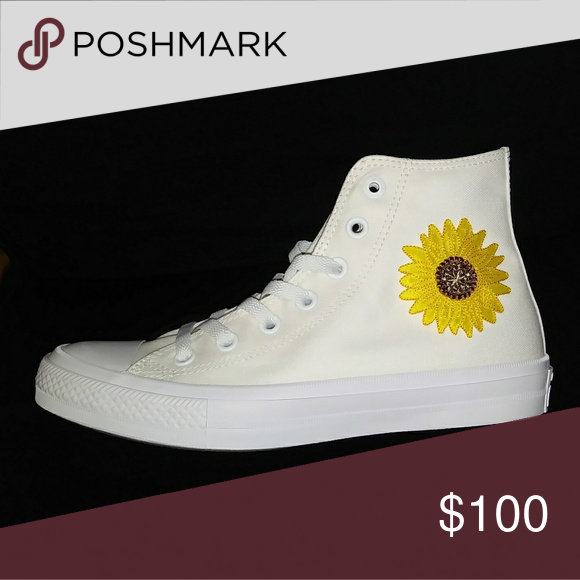 Converse Lunarlon Insole For Sale Nwt Custom Sunflower Converse Chuck Taylor Sneaker Boutique With