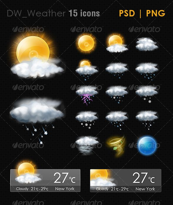 15 Realistic Weather ICON Weather icons, Icon, Weather
