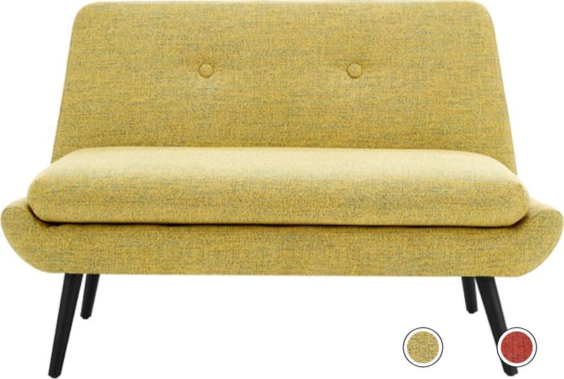 Jonny 2 Seater Sofa Revival Yellow 2 Seater Sofa Sofa Small Sofa