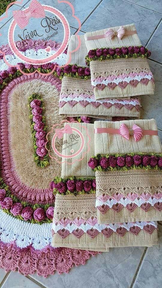 Bico De Croche Para Toalha De Banho Graficos E Passo A Passo 42