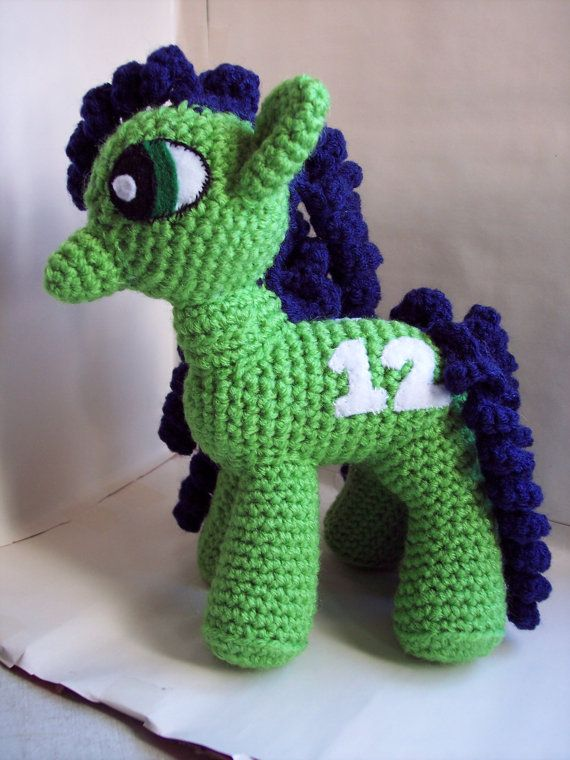 CUSTOM ORDER FOR AMAIN26 Seattle Seahawks My Little Pony Crochet ...