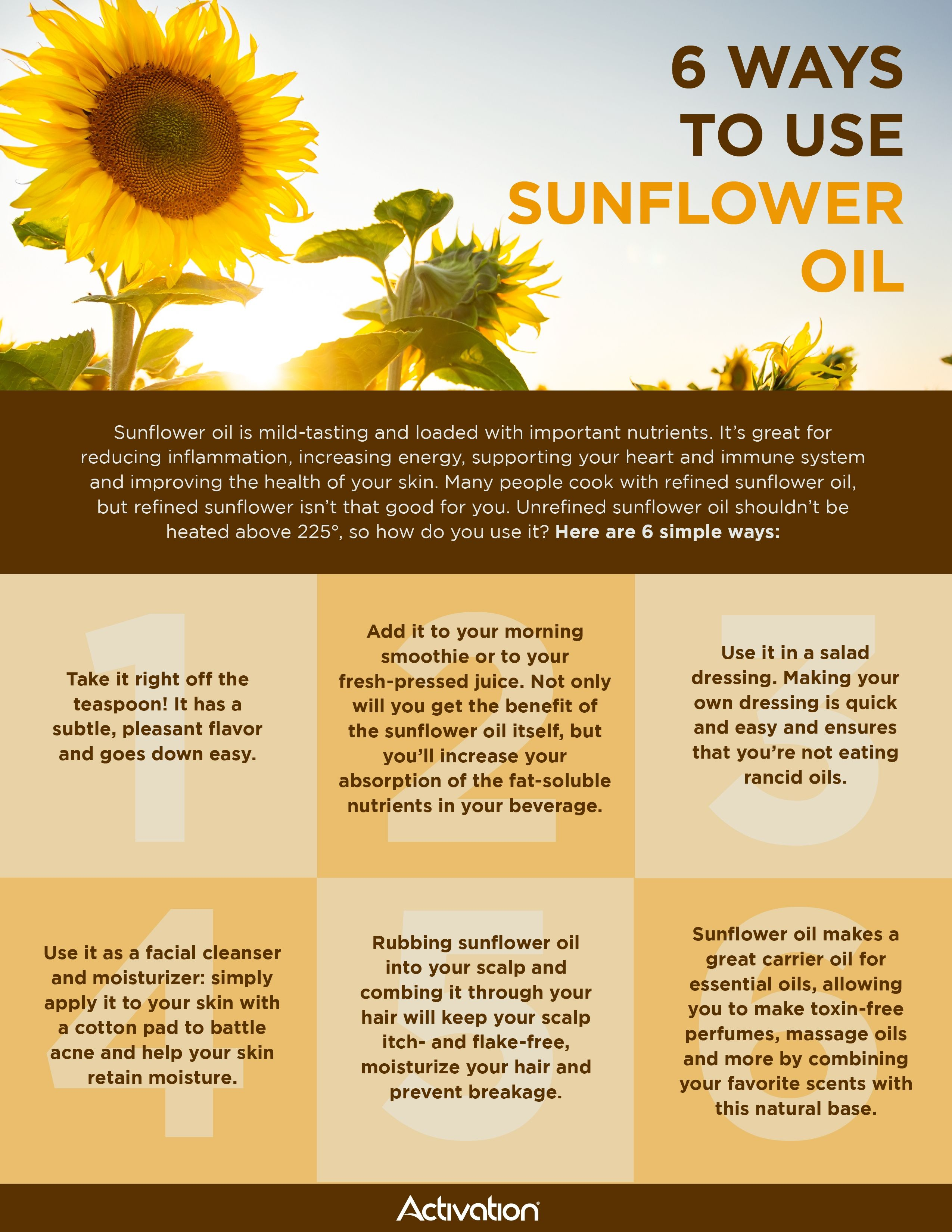 The Top 5 Benefits Of Sunflower Seed Oil Activation Products Sunflower Oil Benefits Olive Oil Benefits Sunflower Seeds Benefits