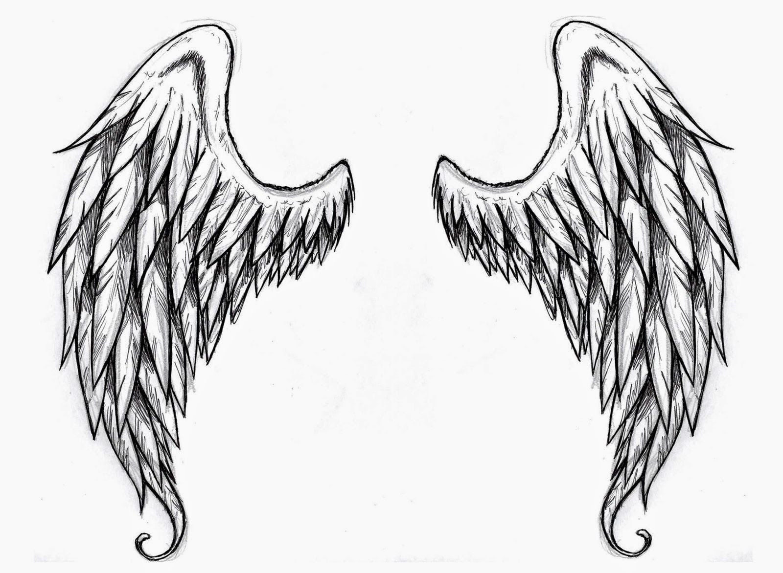 graphic regarding Angel Wing Stencil Printable identified as Wings tattoo stencilsAngel Wings No cost Tattoo Stencil - Angel