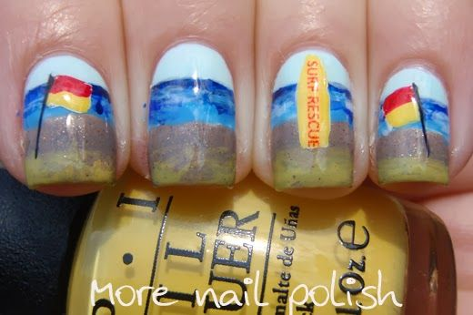 Aussie Nails Swim Between The Flags More Nail Polish Finger
