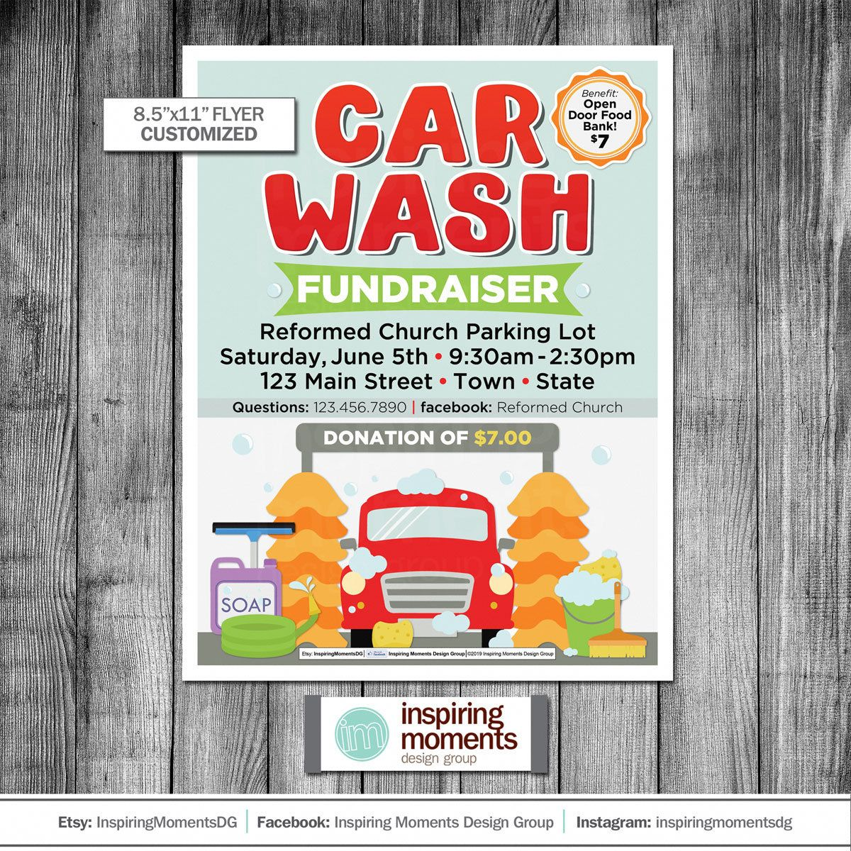 Car Wash Event Flyer Printable