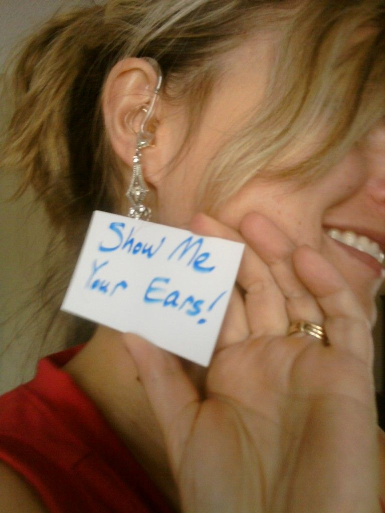 Show off your hearing aids with the show me your ears campaign. *** << Love it!