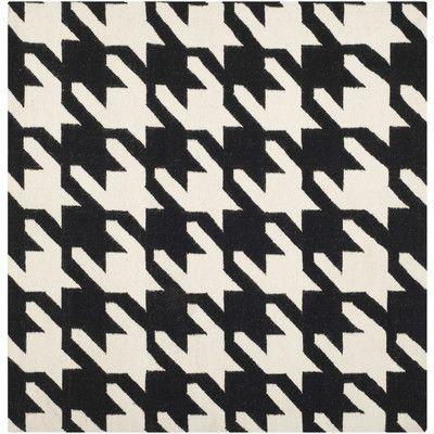 Three Posts Danbury Black / Ivory Area Rug Rug Size: