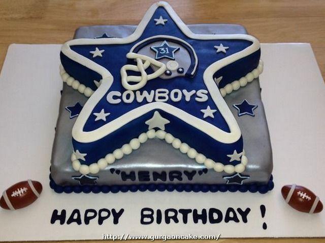 Dallas Cowboys Cake Decorations Birthday Cake Pinterest