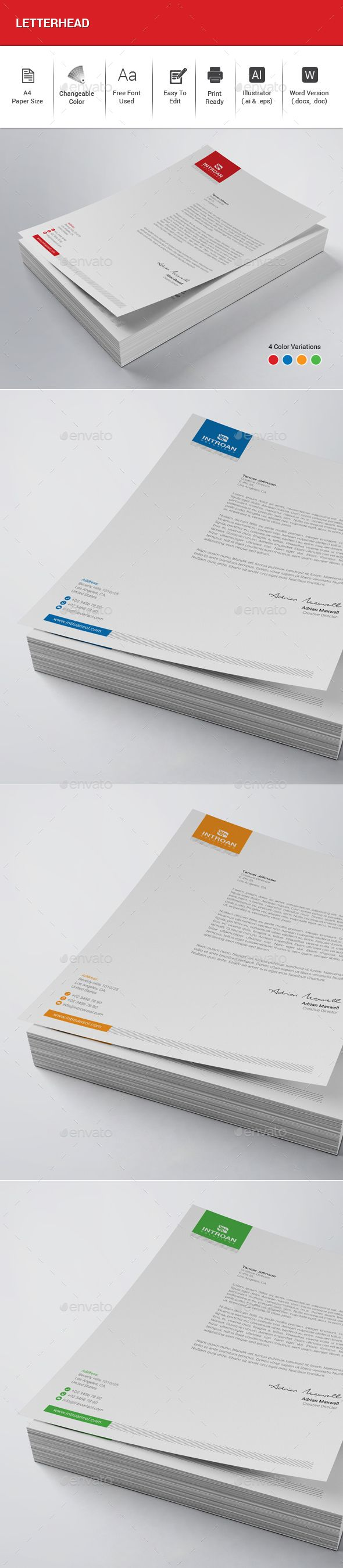 Letterhead letterhead template stationery printing and print letterhead stationery print templates download here https graphicriver spiritdancerdesigns Choice Image