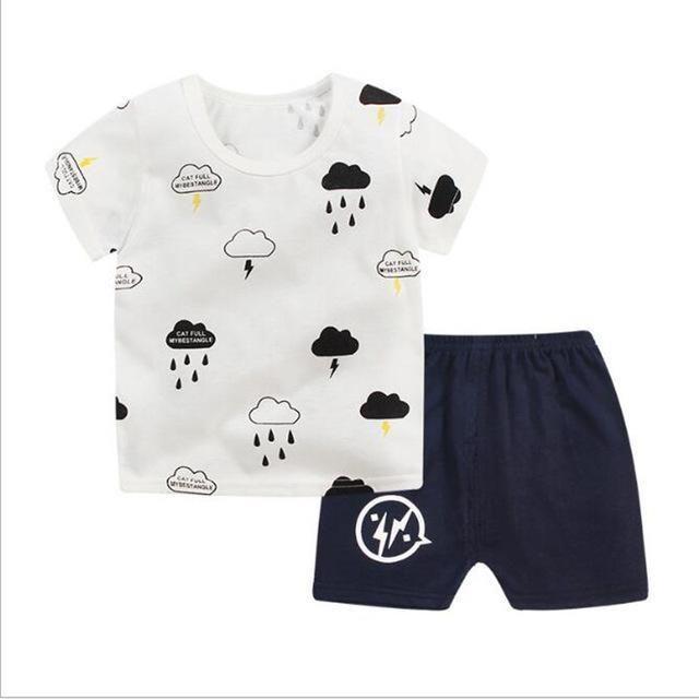 347741c39596 Boys Clothing Sets Summer Children Boys Tops T-shirts+Shorts 2 PCs Clothes  Kids Boys Sport Suit for Baby Boys Tracksuit