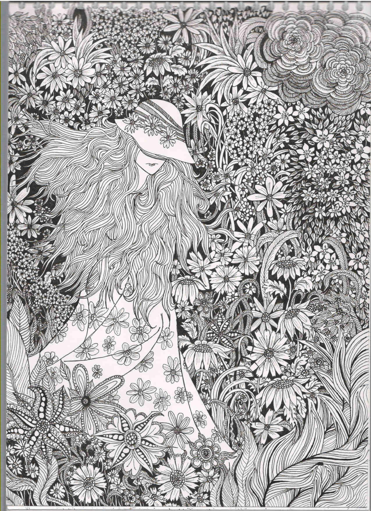 Very Detailed And Beautiful I Can T Wait To Get Started On This One Coloring Pages Coloring Pages For Grown Ups Coloring Books