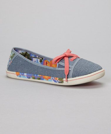 Love this Light Gray & Blue Sole Soldier Slip-On Shoe on #zulily! #zulilyfinds