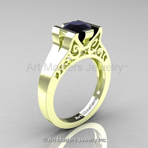 Modern Classic 14K Green Gold 1.0 CT Black by DesignMasters, $729.00