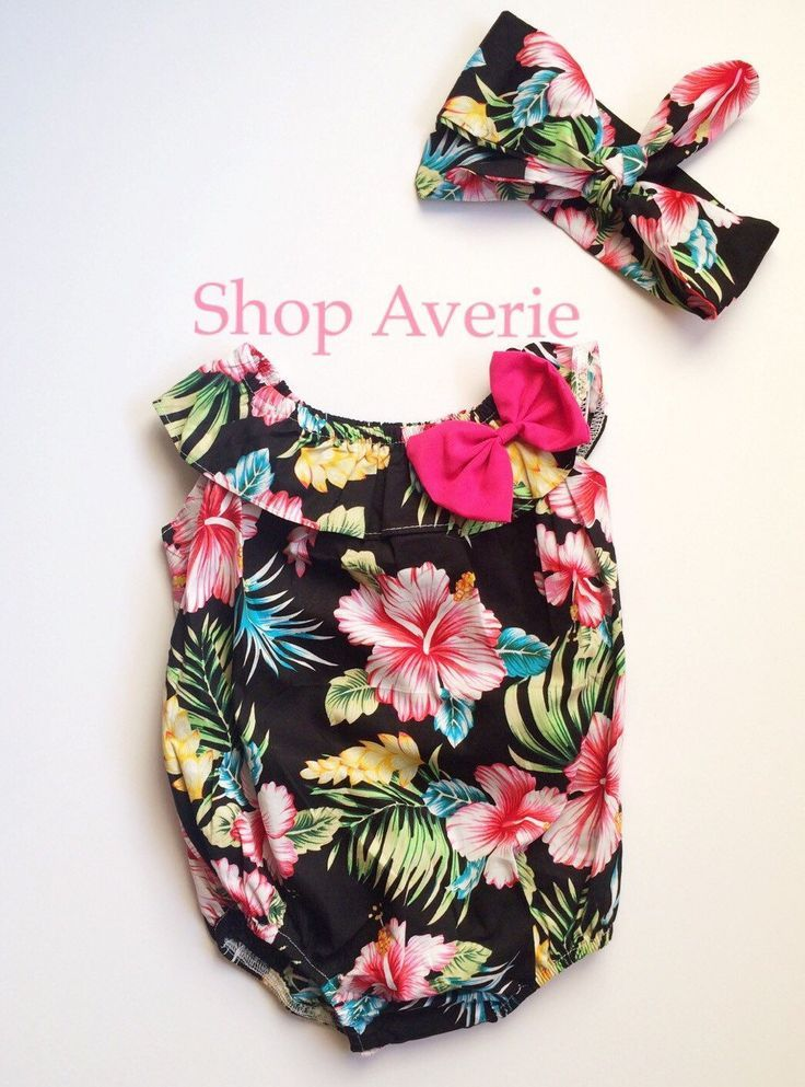 424b7bf88 Tropical bubble baby girl romper cute fashion kids outfit by Shop Averie  https://