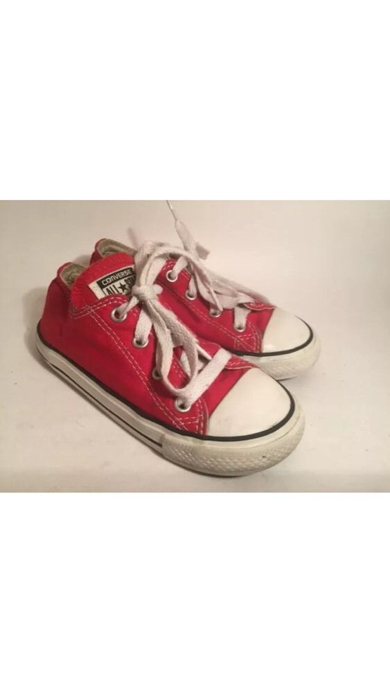 a2dd4f65 toddler boys girls red converse all star tennis shoes sneakers size 9 from  $2.0