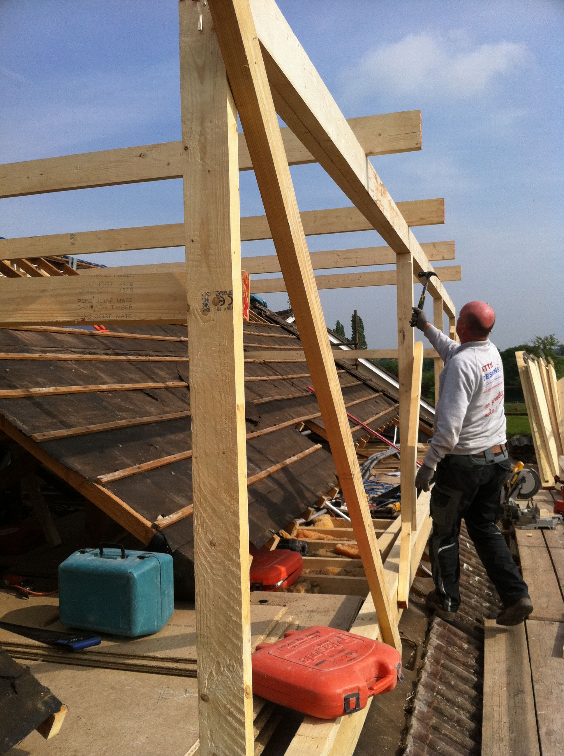 Loft Conversion Flat Roof Dormer In Build 2 Loft Conversion Flat Roof Roof Repair Diy Flat Roof Construction