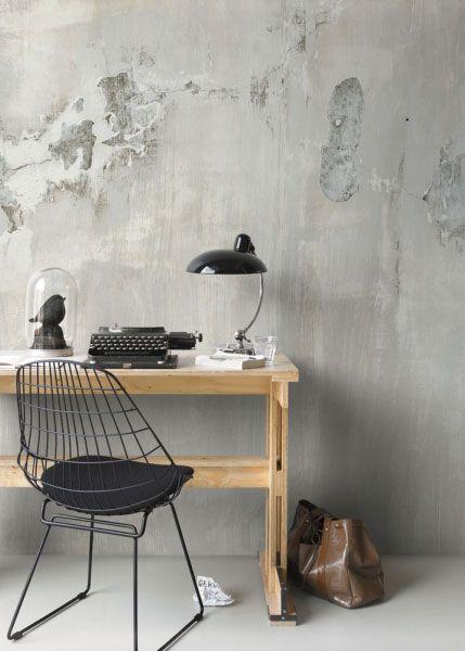Tapete beton wandbild 14439915 wohnideen inspiration - Betonwand wohnzimmer ...