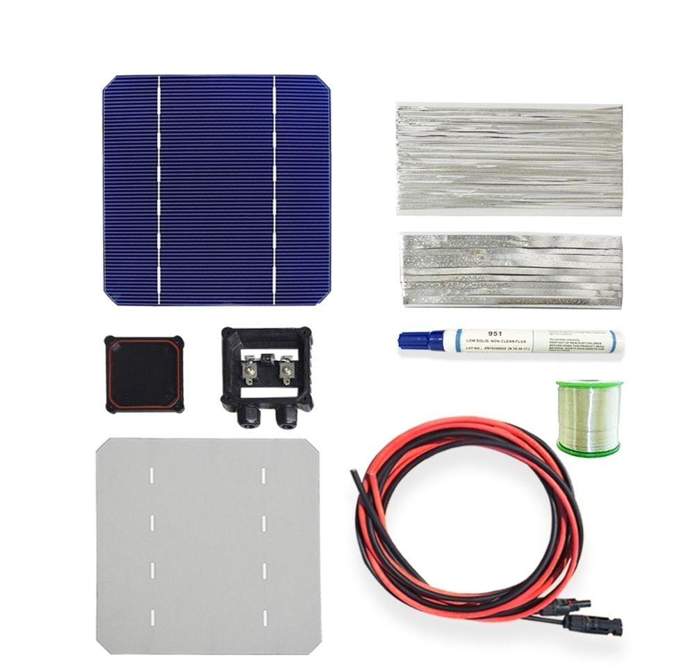 Boguang 1x 100w 18v Diy Solar Panel Kits With 125 125mm Normal Monocrystalline Solar Cell Use Flux Pen Tab Wire Bus Connect 54 Energy Solar Kit Solar Energy Panels Diy Solar Panel