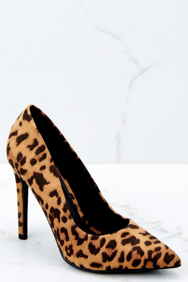 bbc074423201 Hot Leopard Print Pumps - Faux Suede Heels - Point Toe Pumps - $26.00 – Red  Dress Boutique