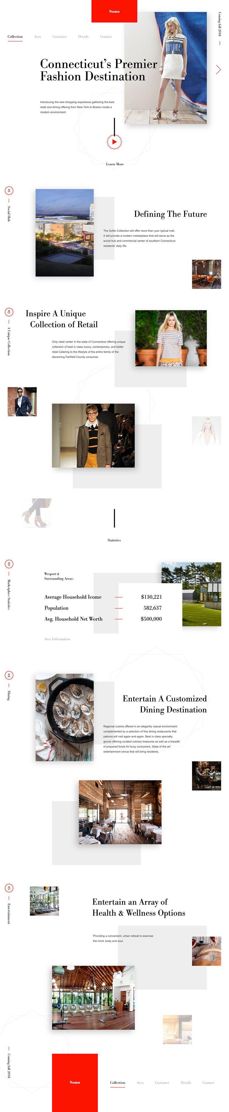 Sono Concept Minimal and Elegant Fashion Website