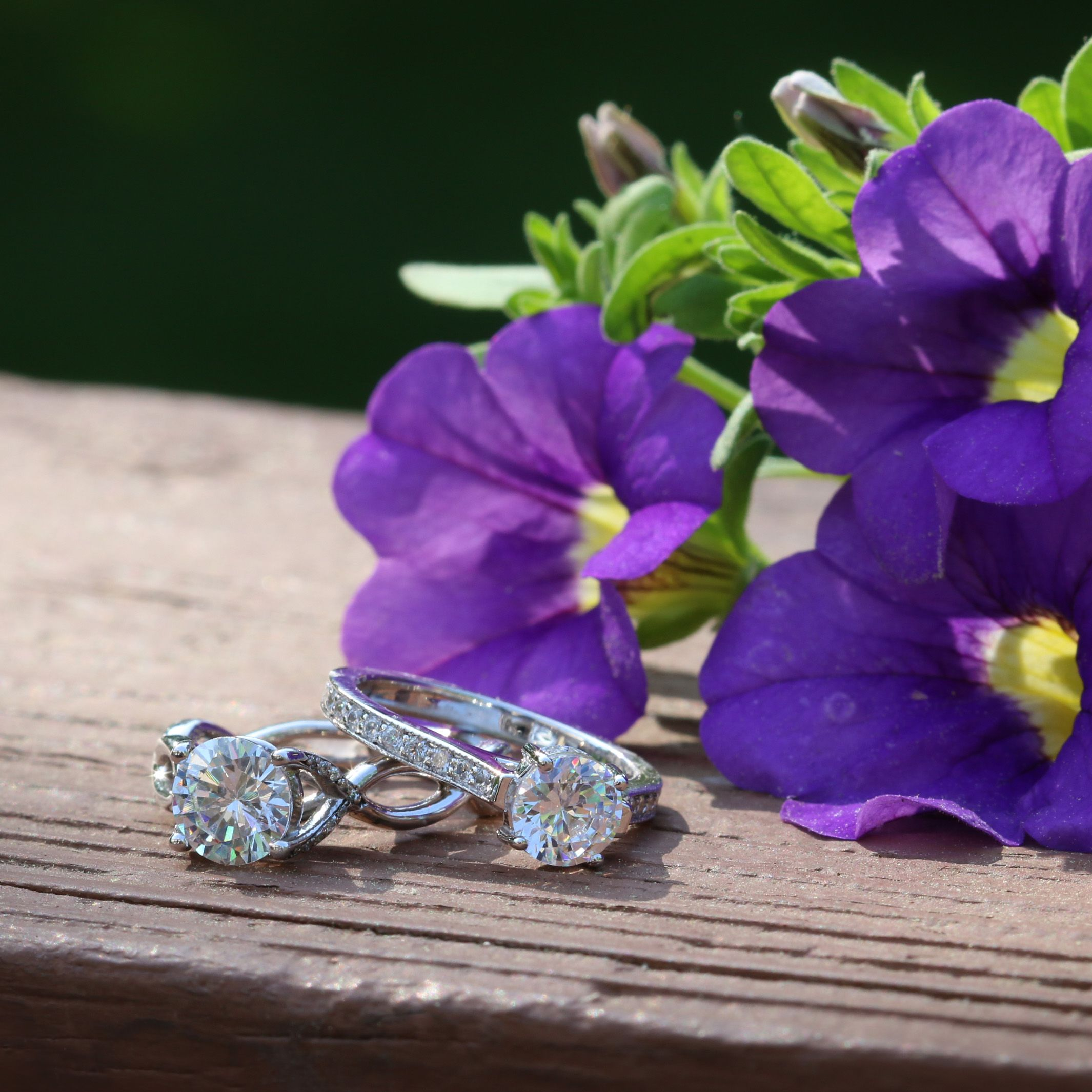 Diamond accented engagement rings  #diamonds #engagement #wedding #rings #bands #nature #trendy #bestseller