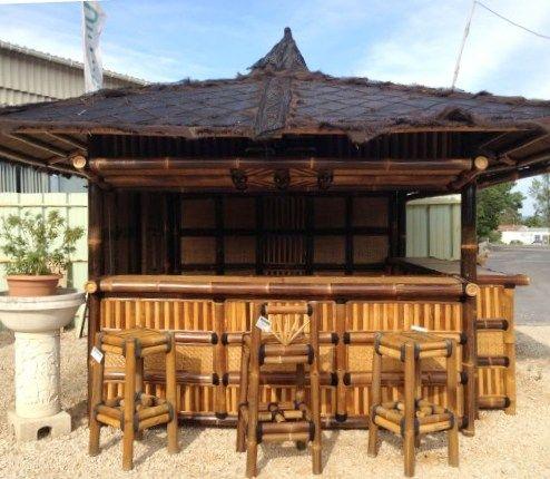 mobilier en bambou gazebo bar navarro en bambou noir gazebo bar navarro en bambou noir. Black Bedroom Furniture Sets. Home Design Ideas