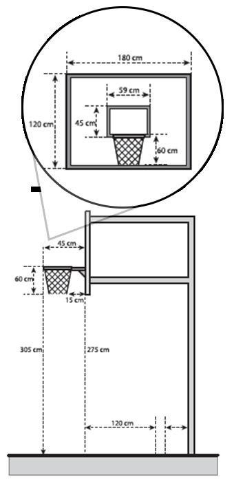 Gambar Dan Ukuran Lapangan Bola Basket Lengkap Tablero De Baloncesto Cancha De Baloncesto En Casa Canasta De Basquetbol