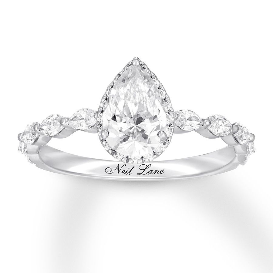 Neil Lane Premiere Diamond Engagement Ring 1 1 2 Ct Tw 14k Gold 992793606 Kay Pear Engagement Ring Vintage Engagement Rings Pear Shaped Engagement Rings