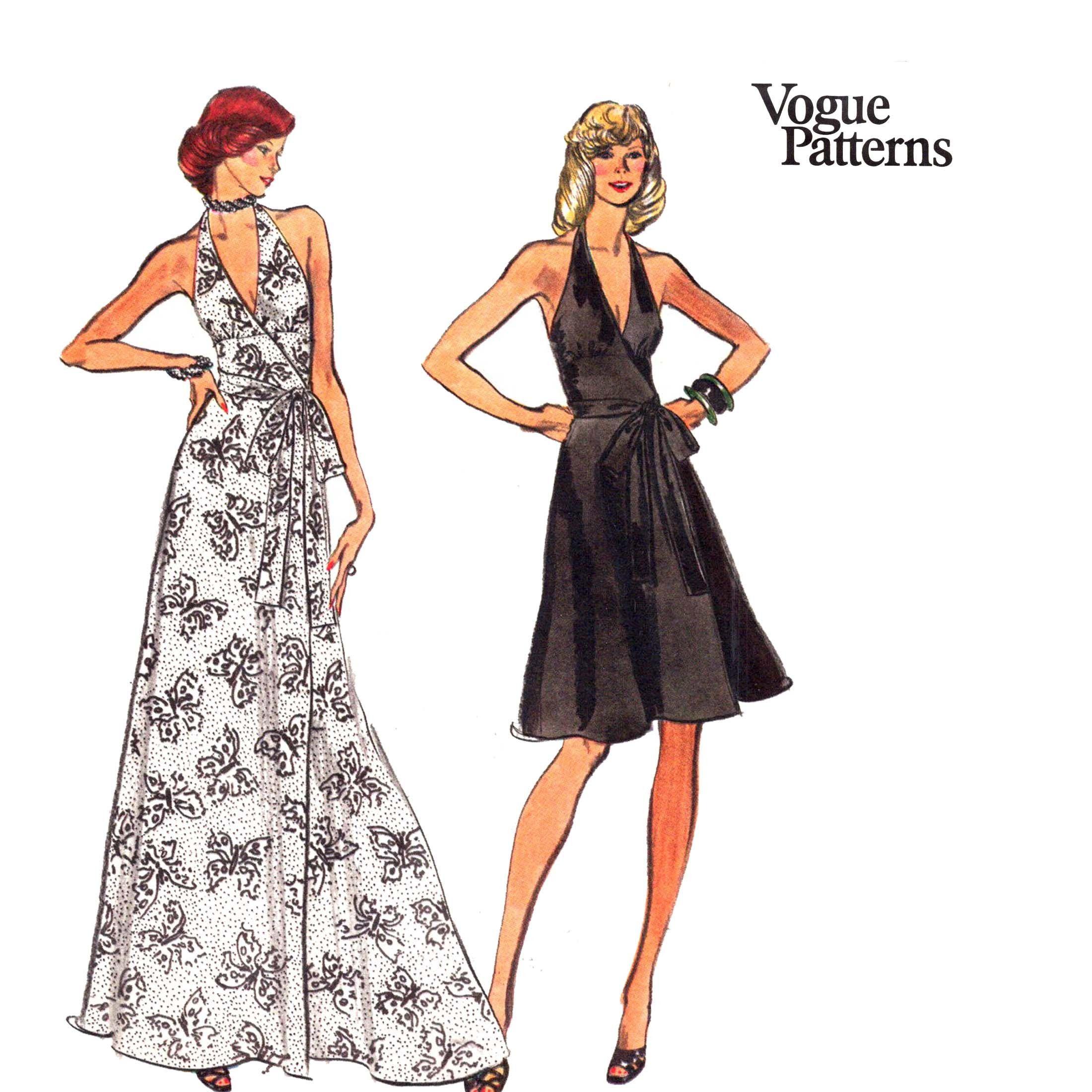 Dress Pattern Uncut Vogue Halter Dress Pattern 70s 36 28 38 Etsy In 2021 Maxi Dress Pattern Vogue Dress Patterns Halter Dress Pattern [ 2200 x 2200 Pixel ]