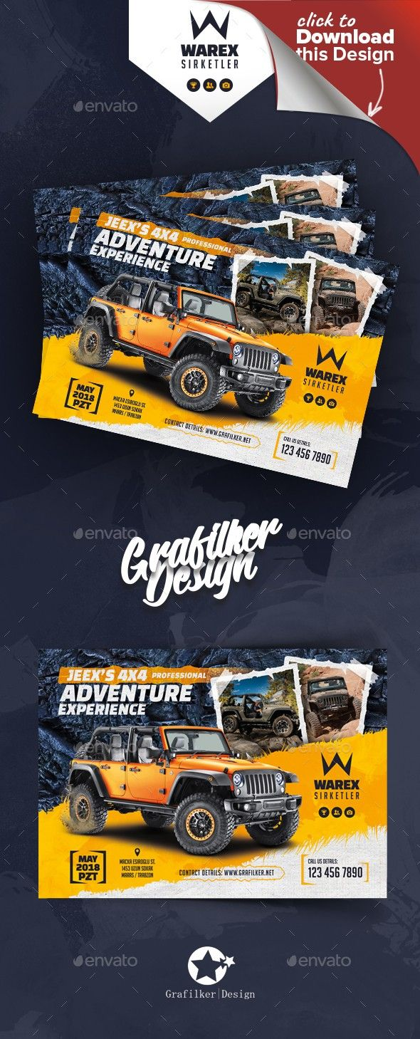 OffRoad Adventure Flyer Templates Flyer Template Text Fonts And - Car and bike show flyer template