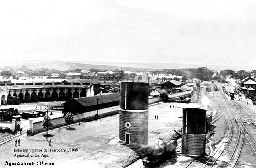 Estacion y patio de Ferrocarril de Aguascalientes Mexico   Aguascalientes,  Aguascalientes mexico, Estación de ferrocarriles