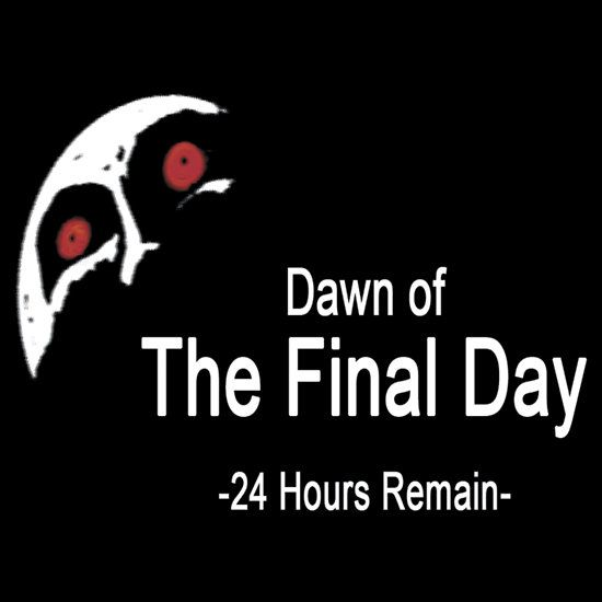 Dawn of the final day. T-shirt $24.54