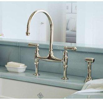 Rohl U 4719l 2 With Images Bridge Faucet Kitchen Kitchen