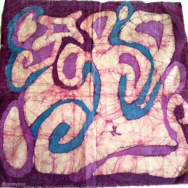 DIY Batik: Glue Resist Fabric Prints
