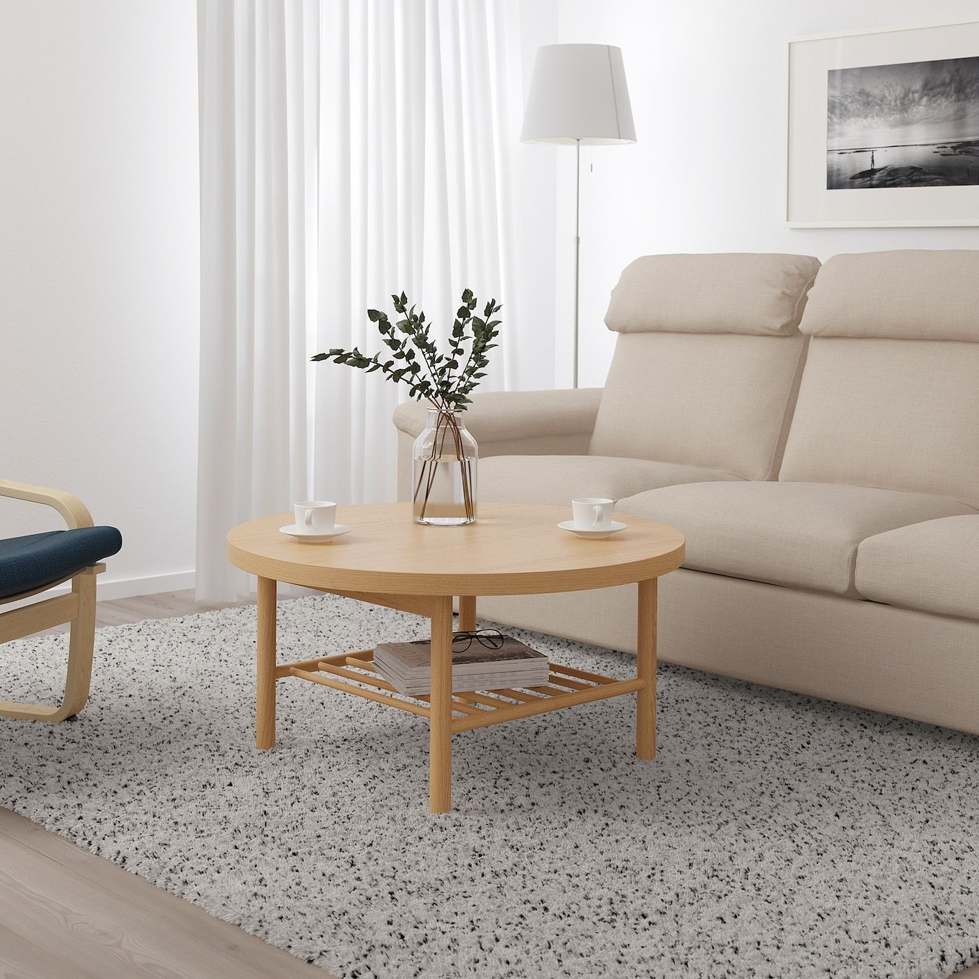 Listerby Coffee Table White Stained Oak 35 3 8