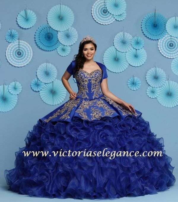 Da Vinci Wedding Gowns: DaVinci Ruffled Organza Charro Ball Gown