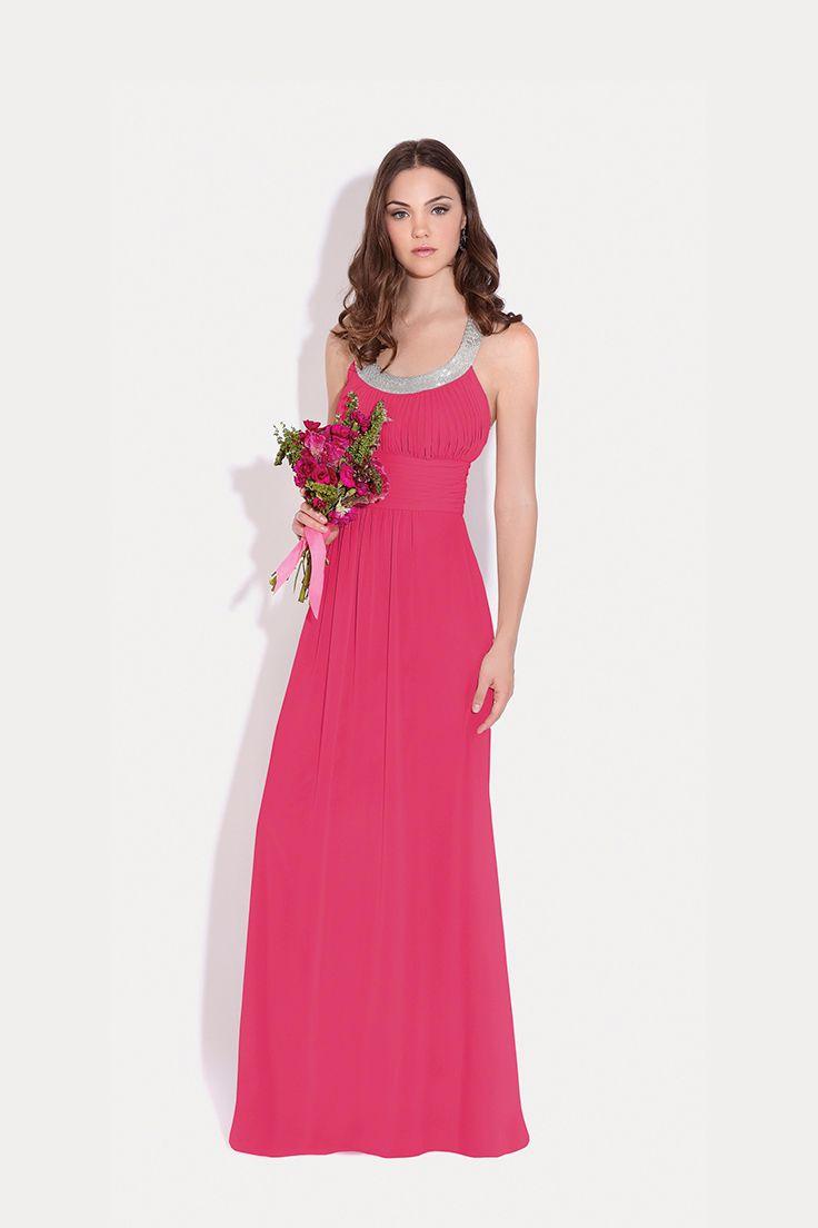 Vestidos #EvaBrazzi para tus #DamasDeHonor #Inspiración en #Fucsia ...