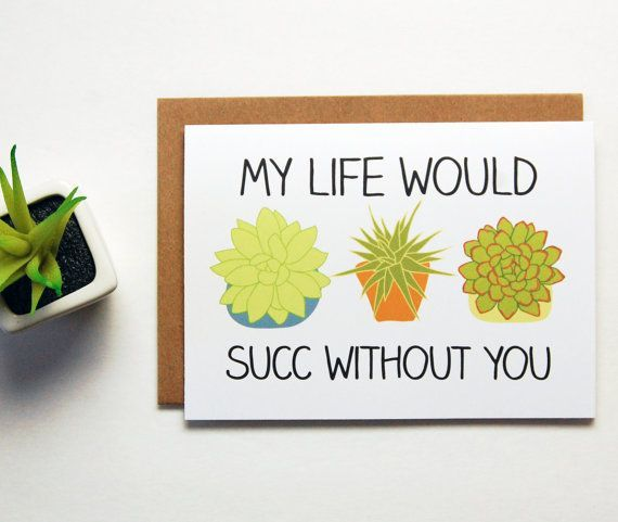 Funny Valentine Card My Life Would Suck Without You by BySeaAndSky