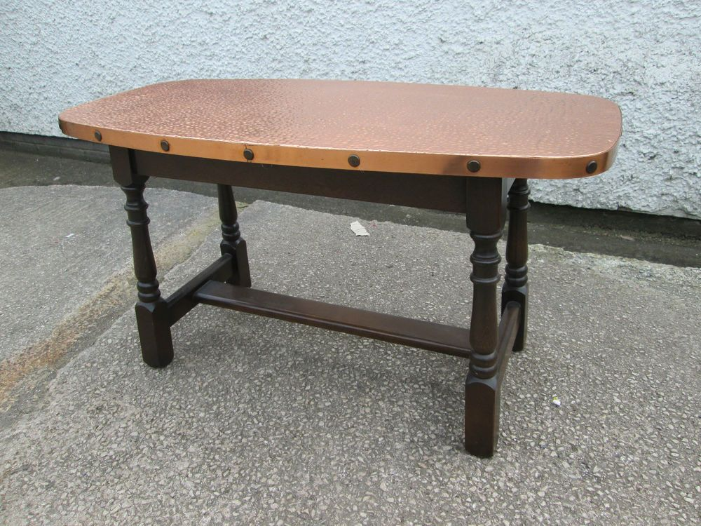 Vintageretro copper top coffee tableTops Tables and Copper