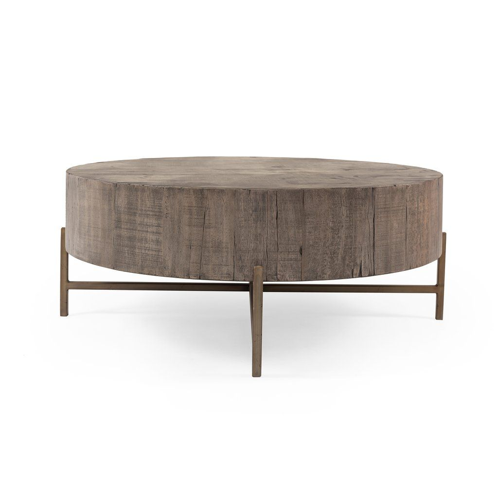 Tinsley Coffee Table In Distressed Grey By Bd Studio