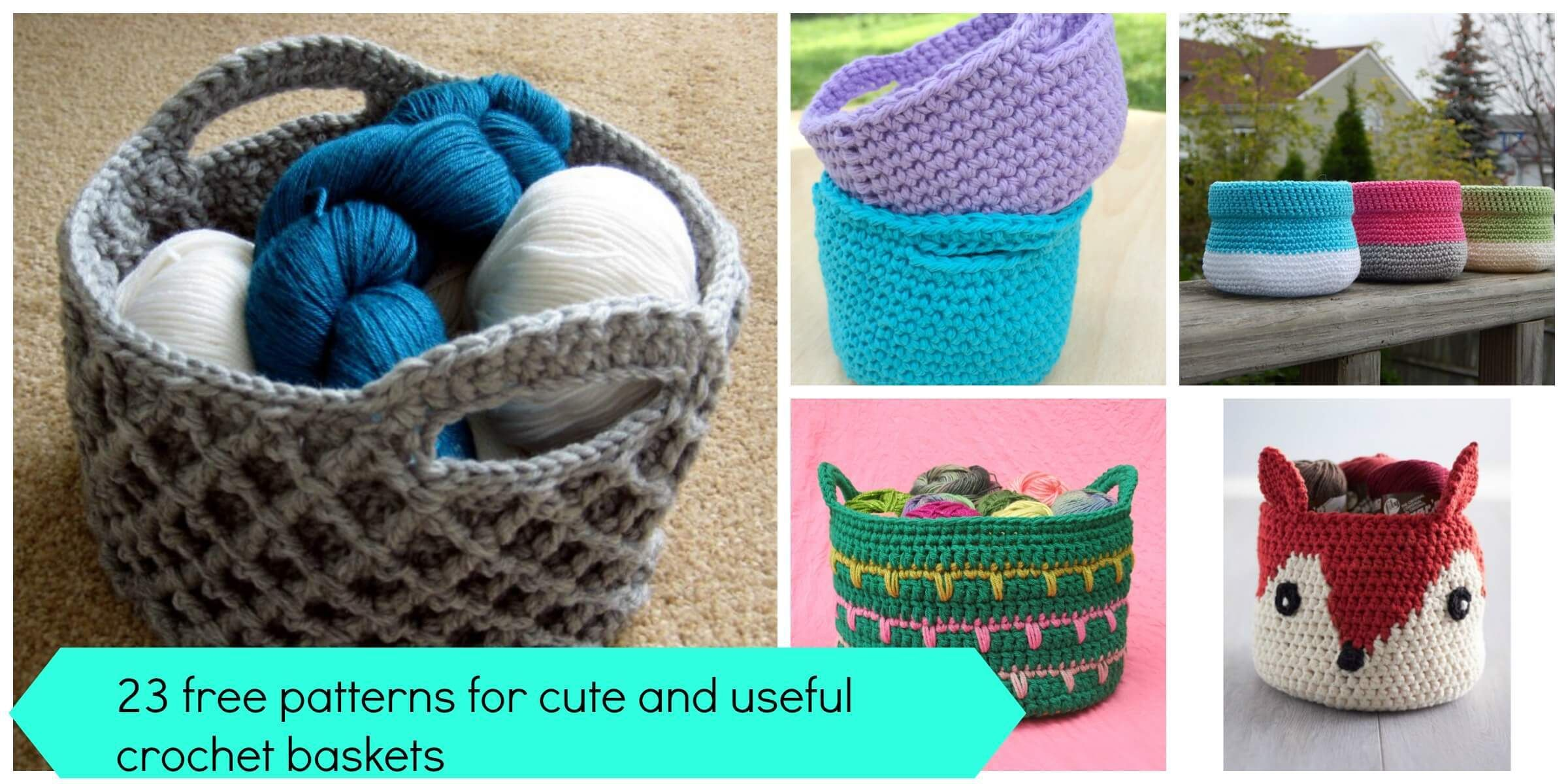 23 free patterns for cute and useful crochet baskets | Crochet ...