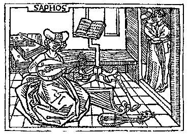 Medieval Woodcuts Clipart Collection 13 Sappho From Boccaccio De Claris Mulieribus Augsburg 1473 Oktouse Clip Art Woodcut Medieval