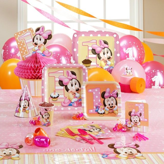 1st Bday Minnie Mouse Birthday Baby Girl Cakes