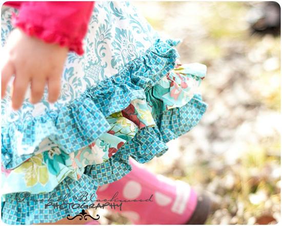 Little Lizard King Ruffled Ruffle Girls Skirt Sewing Pattern sizes 6 mo - 8 years.