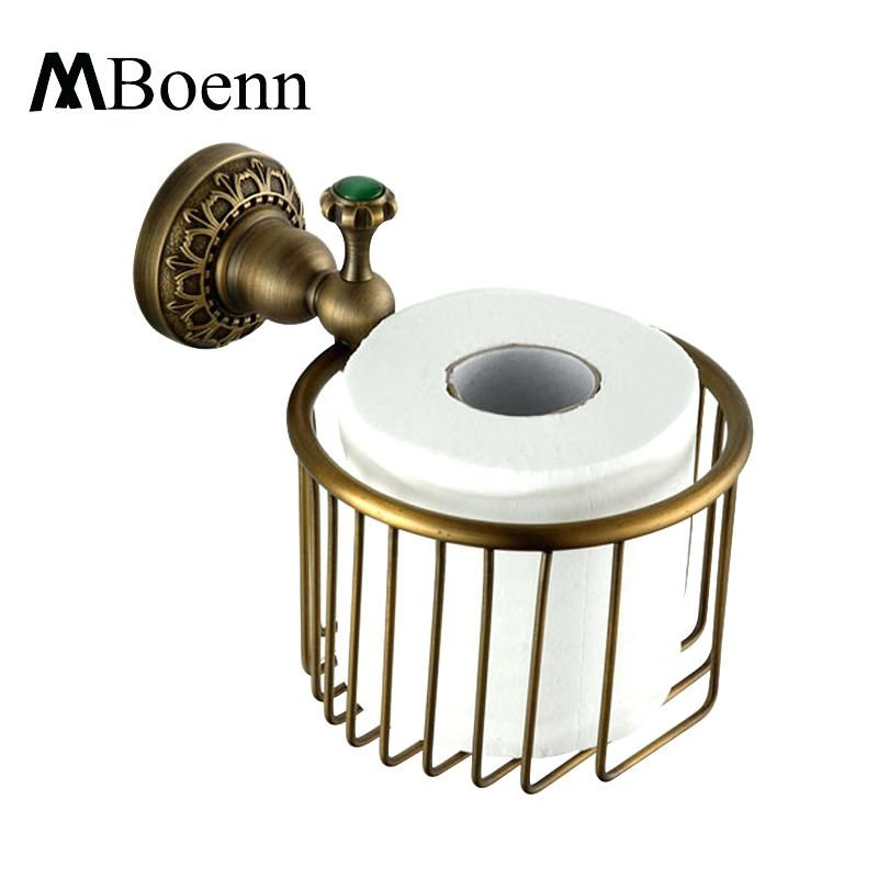 Retro Bathroom Accessoriesantique Wall Mounted Brass Retro Bathroom  Accessories Toilet Paper Holder Sets Carving Toilet Roll